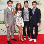 Jonas Brothers y Demi Lovato en la premiere de Camp Rock 2 The Final Jam